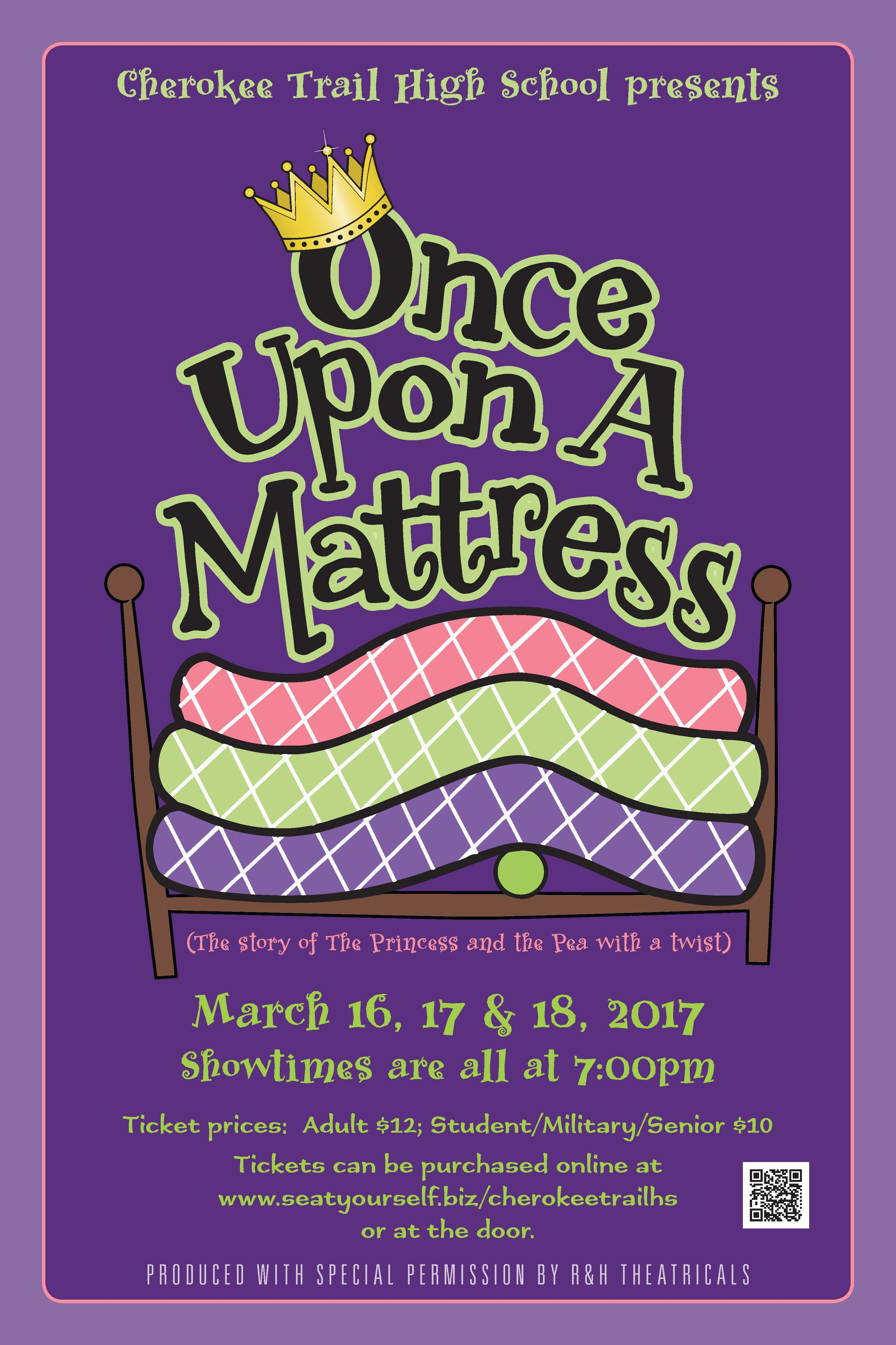 once upon a mattress poster. Musical Performance \u2013 Once Upon A Mattress March 16, 17 \u0026 18 Poster